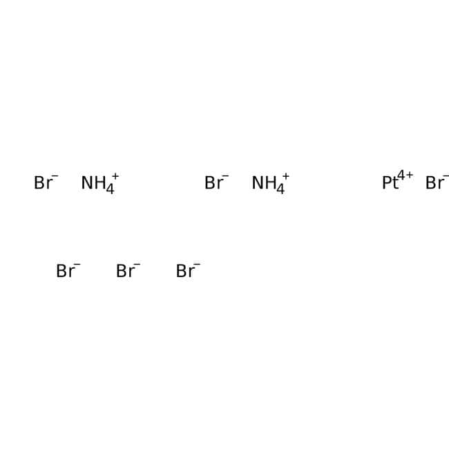 Ammonium hexabromoplatinate(IV), 99.99%, (trace metal basis), ACROS Organics