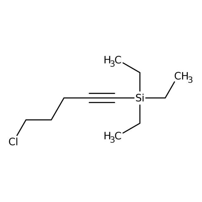 Alfa Aesar™1-Chloro-5-triethylsilyl-4-pentyne, 97%