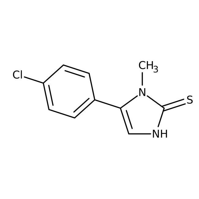 5-(4-Chlorophenyl)-1-methyl-1H-imidazole-2-thiol, 97%, Maybridge™ 5g; Amber Glass Bottle 5-(4-Chlorophenyl)-1-methyl-1H-imidazole-2-thiol, 97%, Maybridge™