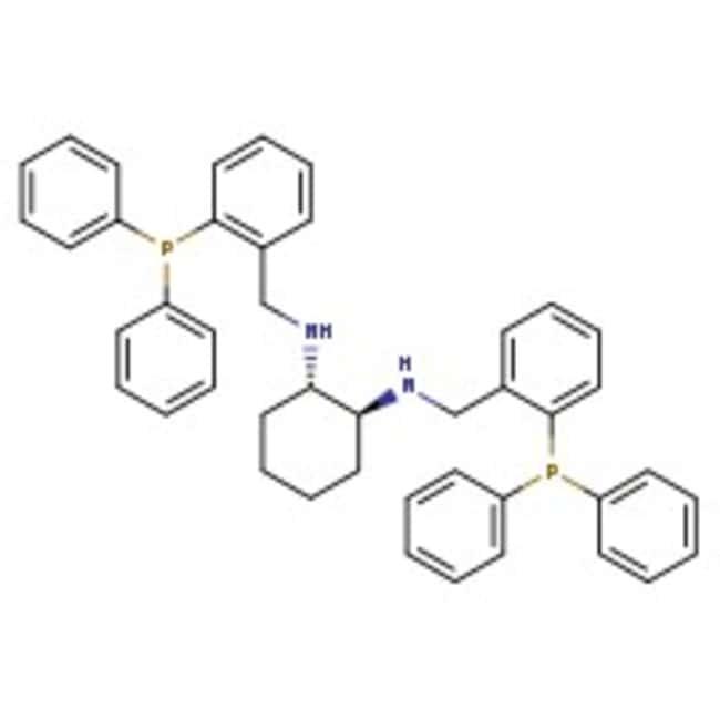 (1S,2S)-N,N'-Bis[2-(diphenylphosphino)benzyl]cyclohexane-1,2-diamine, 97%, Alfa Aesar™ 100mg (1S,2S)-N,N'-Bis[2-(diphenylphosphino)benzyl]cyclohexane-1,2-diamine, 97%, Alfa Aesar™