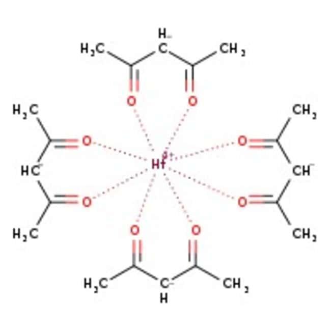 Alfa Aesar™Hafnium(IV) 2,4-pentanedionate, 97% 5g Alfa Aesar™Hafnium(IV) 2,4-pentanedionate, 97%