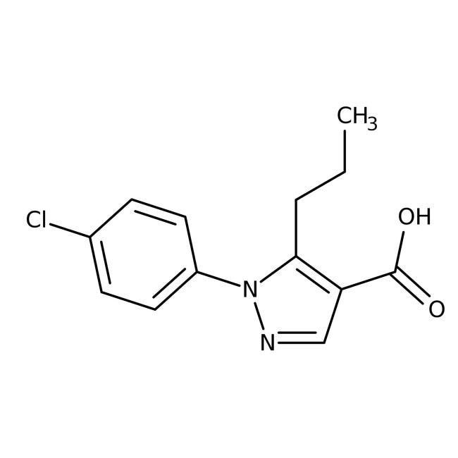 1-(4-chlorophenyl)-5-propyl-1H-pyrazole-4-carboxylic acid, 97%, Maybridge Amber Glass Bottle; 10g 1-(4-chlorophenyl)-5-propyl-1H-pyrazole-4-carboxylic acid, 97%, Maybridge