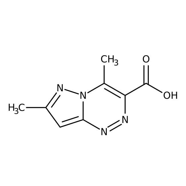 4,7-Dimethylpyrazol-[5,1-c][1,2,4]-triazin-3-carbonsäure, 95%, Maybridge Braunglasflasche, 10g 4,7-Dimethylpyrazol-[5,1-c][1,2,4]-triazin-3-carbonsäure, 95%, Maybridge