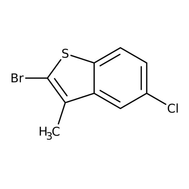 2-Bromo-5-chloro-3-methylbenzo[b]thiophene, 97%, Maybridge Amber Glass Bottle; 1g 2-Bromo-5-chloro-3-methylbenzo[b]thiophene, 97%, Maybridge