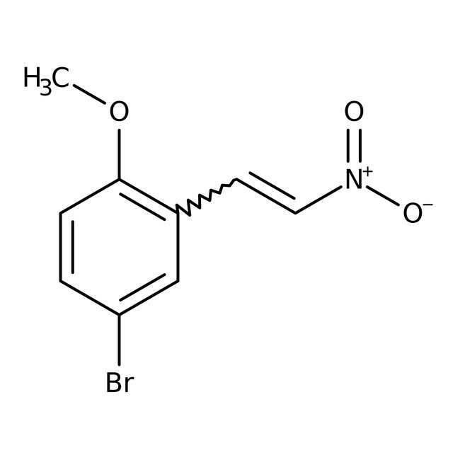 Alfa Aesar™5-Bromo-2-methoxy-beta-nitrostyrene, 97% 5g Alfa Aesar™5-Bromo-2-methoxy-beta-nitrostyrene, 97%