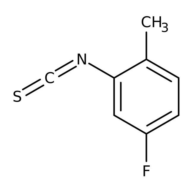 5-Fluoro-2-methylphenyl isothiocyanate, 97%, Maybridge Amber Glass Bottle; 5g 5-Fluoro-2-methylphenyl isothiocyanate, 97%, Maybridge