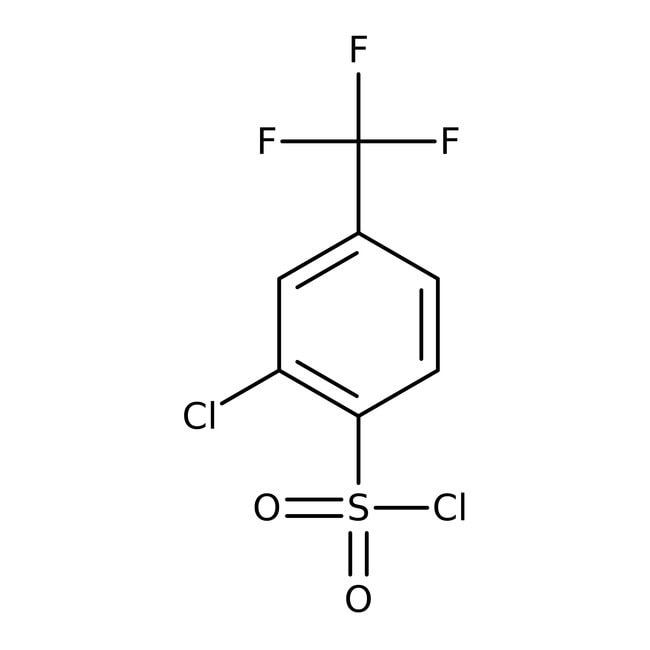 Alfa Aesar™2-Chloro-4-(trifluoromethyl)benzenesulfonyl chloride, 97% 5g Alfa Aesar™2-Chloro-4-(trifluoromethyl)benzenesulfonyl chloride, 97%