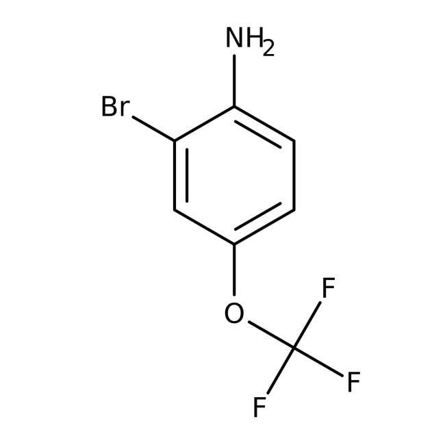 2-Bromo-4-trifluoromethoxyaniline, 98%, ACROS Organics™ 1g; Glass bottle 2-Bromo-4-trifluoromethoxyaniline, 98%, ACROS Organics™
