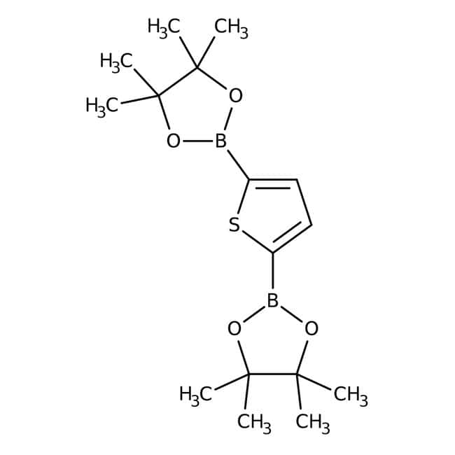 Alfa Aesar™Thiophene-2,5-diboronic acid bis(pinacol) ester, 97% 1g Alfa Aesar™Thiophene-2,5-diboronic acid bis(pinacol) ester, 97%