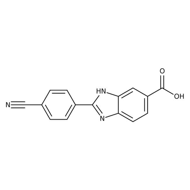 Alfa Aesar™2-(4-Cyanophenyl)benzimidazole-6-carboxylic acid, 97% 1g Alfa Aesar™2-(4-Cyanophenyl)benzimidazole-6-carboxylic acid, 97%