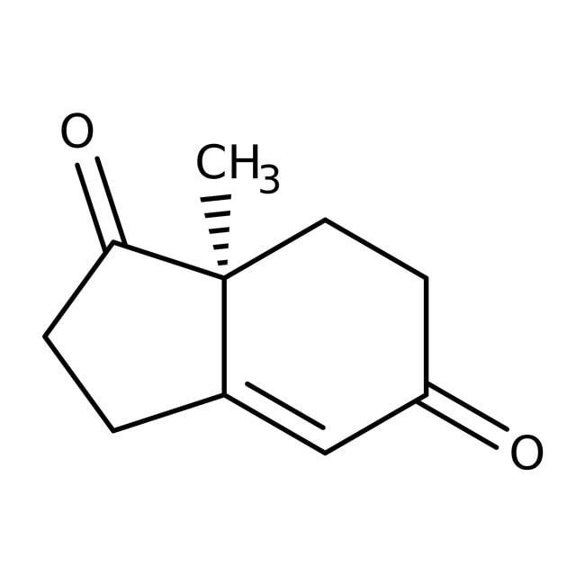 (S)-(+)-2,3,7,7a-Tetrahydro-7a-methyl-1H-indene-1,5(6H)-dione, 90%, ACROS Organics™ 5g; Glass bottle (S)-(+)-2,3,7,7a-Tetrahydro-7a-methyl-1H-indene-1,5(6H)-dione, 90%, ACROS Organics™