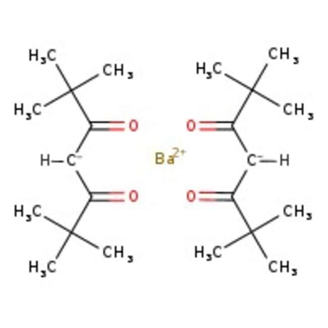 Alfa Aesar&trade;&nbsp;Barym (II) Bis(2,2,6,6-tétraméthyl-3,5-heptanedionato), 99,99% (base de métaux excluant le Sr) Sr < 500ppm 1g Alfa Aesar&trade;&nbsp;Barym (II) Bis(2,2,6,6-tétraméthyl-3,5-heptanedionato), 99,99% (base de métaux excluant le Sr) Sr < 500ppm