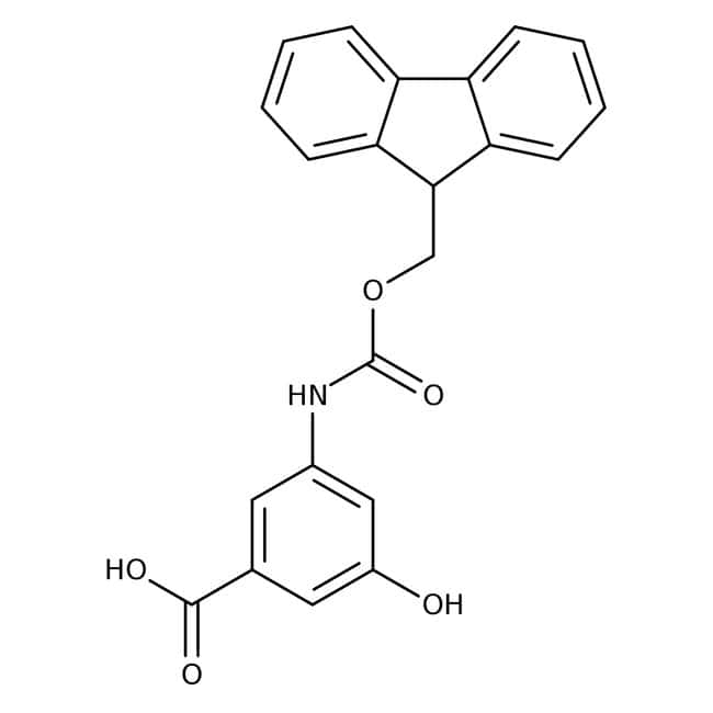 3-{[(9H-Fluoren-9-ylmethoxy)carbonyl]amino}-5-hydroxybenzoic acid, ≥97%, Maybridge Amber Glass Bottle; 5g 3-{[(9H-Fluoren-9-ylmethoxy)carbonyl]amino}-5-hydroxybenzoic acid, ≥97%, Maybridge