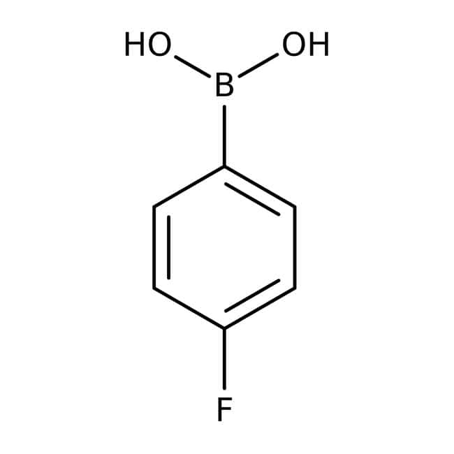 4-Fluorophenylboronic acid, 97%, ACROS Organics™ 25g; Glass bottle 4-Fluorophenylboronic acid, 97%, ACROS Organics™