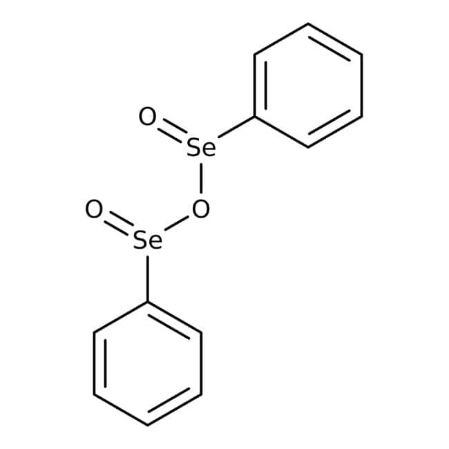 Benzeneseleninic anhydride, 98%, ACROS Organics™ 25g; Glass bottle Benzeneseleninic anhydride, 98%, ACROS Organics™