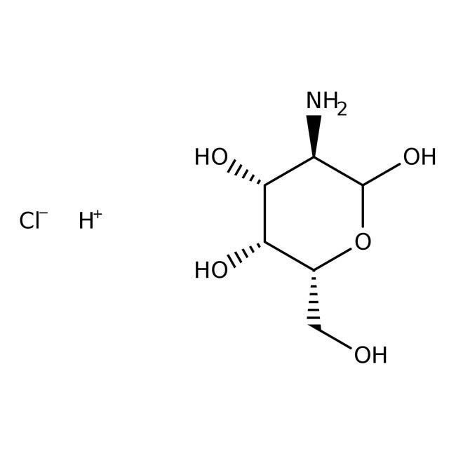 Chlorhydrate de D(+)-galactosamine, 99%, ACROS Organics™ 25g; flacon en verre Chlorhydrate de D(+)-galactosamine, 99%, ACROS Organics™