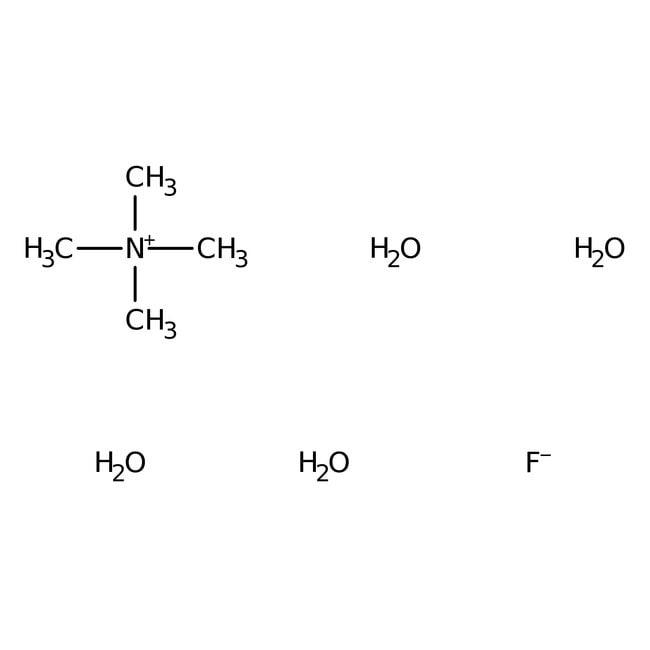 Tetramethylammonium fluoride tetrahydrate, 98%, ACROS Organics™: Quaternary ammonium salts Organonitrogen compounds