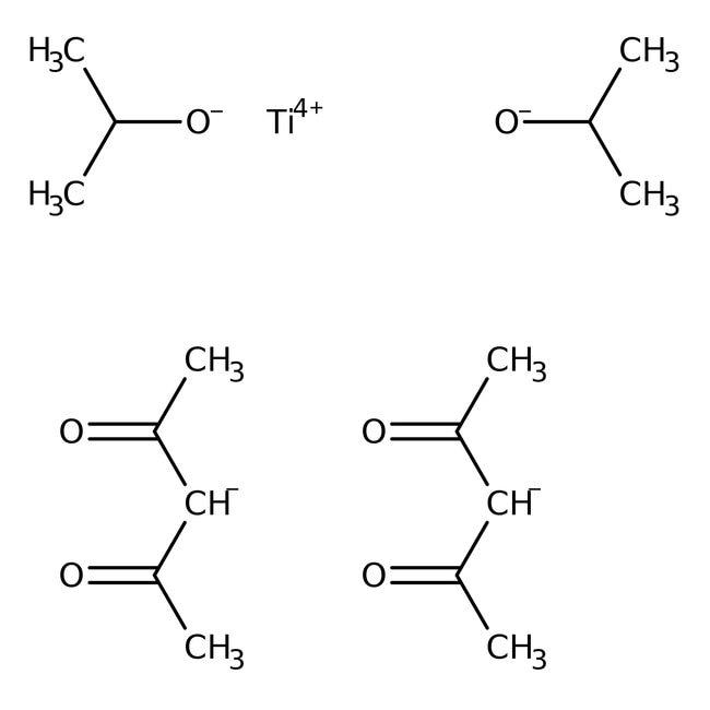 Alfa Aesar™Titanium(diisopropoxide) bis(2,4-pentanedionate), 75% in isopropanol