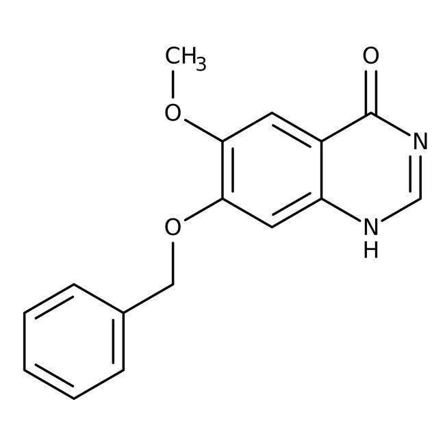 Alfa Aesar™7-Benzyloxy-6-Methoxy-4(3H)-Quinazolinon, 96% 5g Alfa Aesar™7-Benzyloxy-6-Methoxy-4(3H)-Quinazolinon, 96%