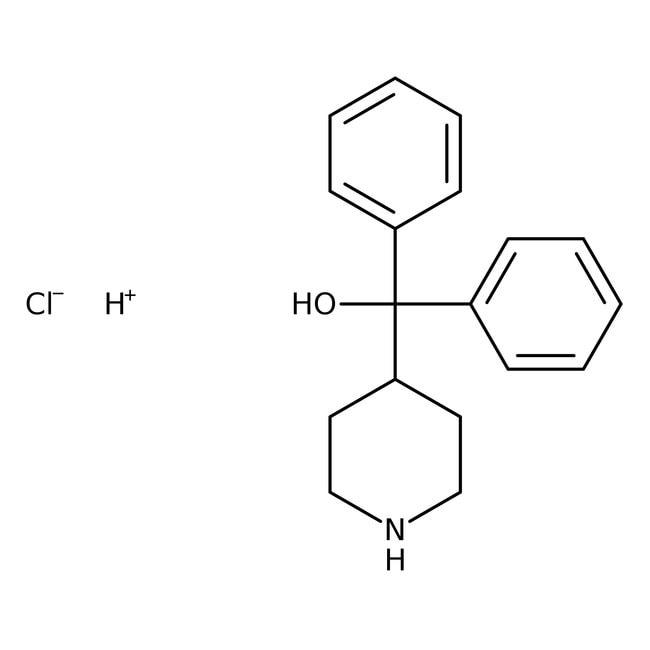 α,α-Diphenyl-4-piperidinomethanol hydrochloride, 98%, ACROS Organics™