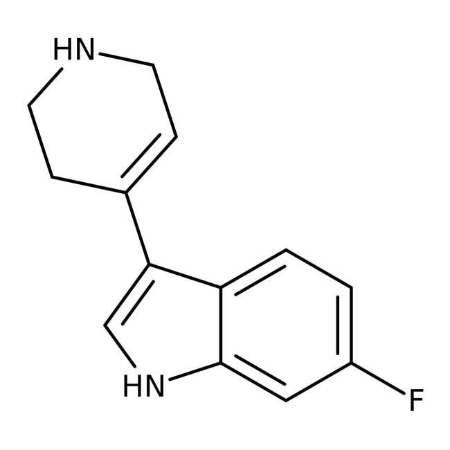 Alfa Aesar™6-Fluoro-3-(1,2,3,6-tetrahydro-4-pyridyl)Indol, 97% 250mg Alfa Aesar™6-Fluoro-3-(1,2,3,6-tetrahydro-4-pyridyl)Indol, 97%