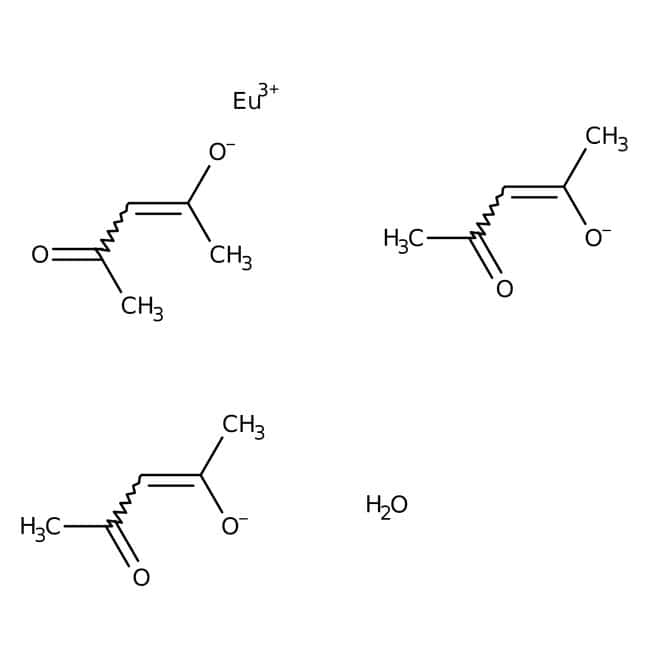 Alfa Aesar™Europium(III) 2,4-pentanedionate hydrate, 99.9% (REO) 2g Alfa Aesar™Europium(III) 2,4-pentanedionate hydrate, 99.9% (REO)