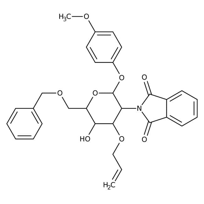 4-Methoxyphenyl 3-O-Allyl-6-O-benzyl-2-deoxy-2-phthalimido-beta-D-glucopyranoside 98.0+%, TCI America™