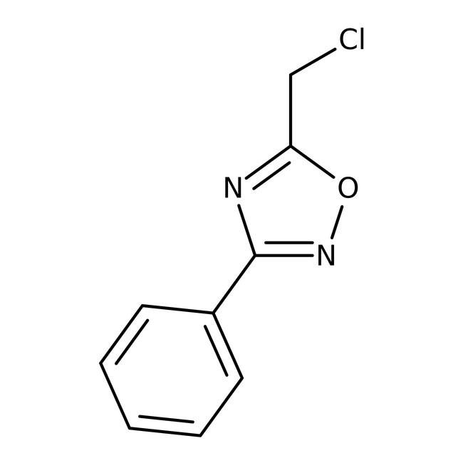 5-(Chloromethyl)-3-phenyl-1,2,4-oxadiazole, 97%, Maybridge™ Amber Glass Bottle; 1g 5-(Chloromethyl)-3-phenyl-1,2,4-oxadiazole, 97%, Maybridge™