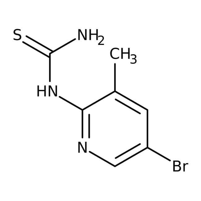 Alfa Aesar™N-(5-Bromo-3-methyl-2-pyridyl)thiourea, 97% 250mg Alfa Aesar™N-(5-Bromo-3-methyl-2-pyridyl)thiourea, 97%