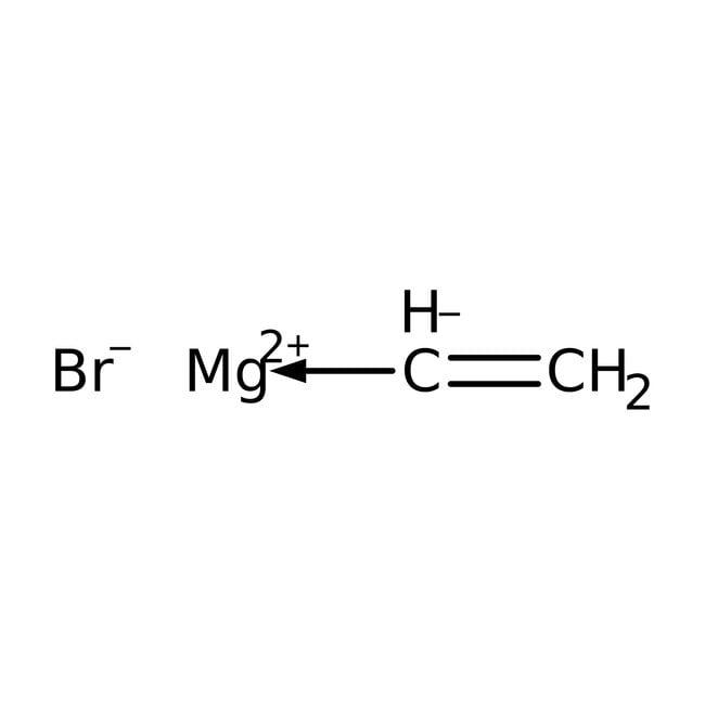 Bromure de vinylmagnésium, solution 1M dans 2-MeTHF, AcroSeal™, AcrosOrganics 100 ml ; flacon en verre AcroSeal Bromure de vinylmagnésium, solution 1M dans 2-MeTHF, AcroSeal™, AcrosOrganics