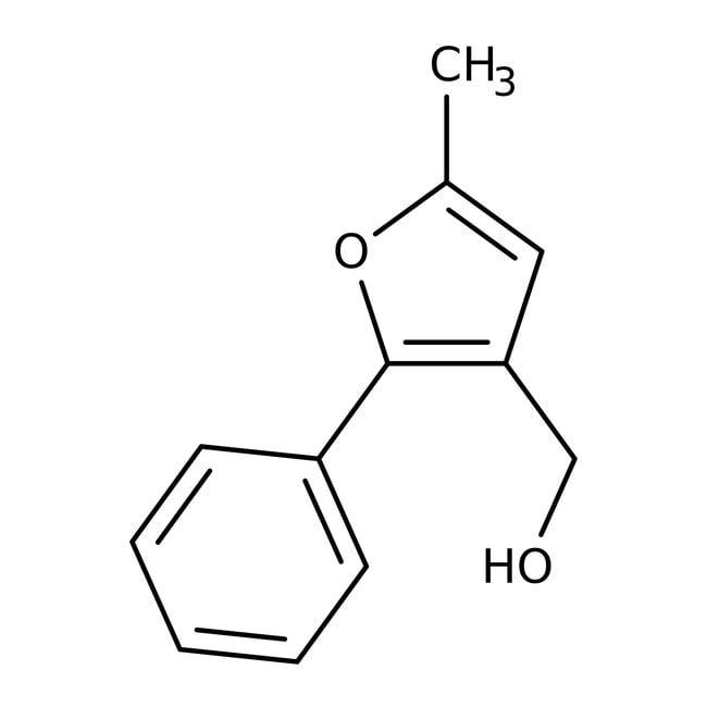 (5-Methyl-2-phenyl-3-furyl)methanol, 95%, Maybridge™ Amber Glass Bottle; 1g (5-Methyl-2-phenyl-3-furyl)methanol, 95%, Maybridge™