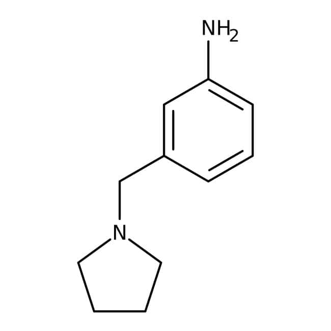 3-(Pyrrolidin-1-ylmethyl)aniline, 97%, Maybridge™ 250mg 3-(Pyrrolidin-1-ylmethyl)aniline, 97%, Maybridge™