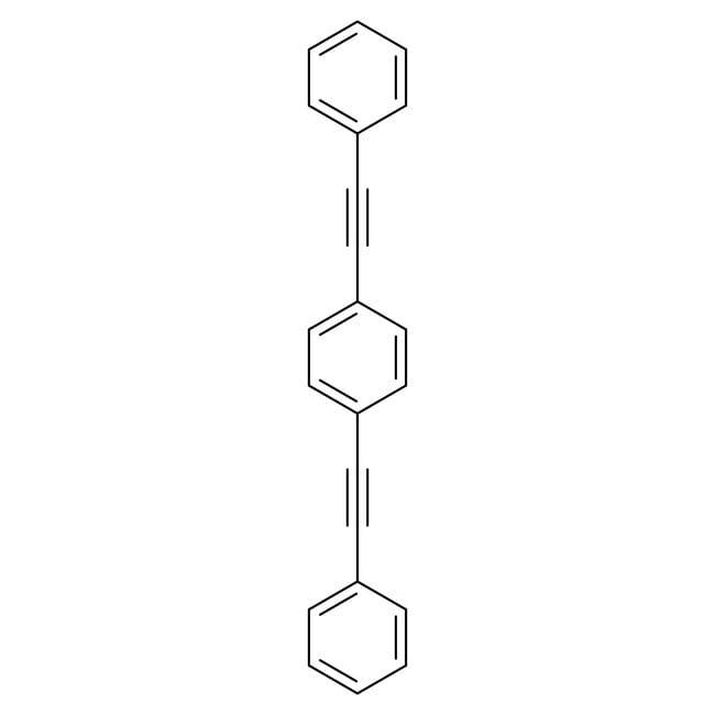Alfa Aesar™1,4-Bis(phényléthynyl)benzène, 97% 25g Alfa Aesar™1,4-Bis(phényléthynyl)benzène, 97%