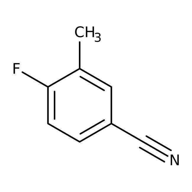 Alfa Aesar™4-Fluoro-3-méthylbenzonitrile, 97%: Halobenzenes Benzene and substituted derivatives