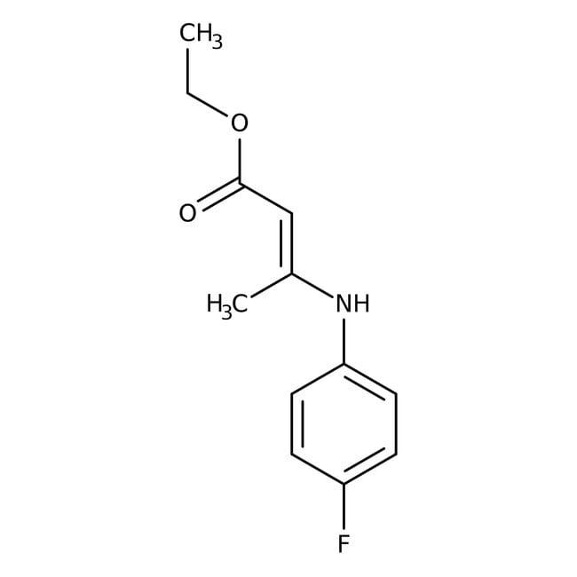 Alfa Aesar™3-(4-Fluoroanilino)crotonato de etilo, 97% 5g Alfa Aesar™3-(4-Fluoroanilino)crotonato de etilo, 97%