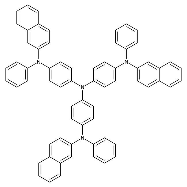 4,4',4''-Tris[2-naphthyl(phenyl)amino]triphenylamine, 98%, Alfa Aesar™ 1g 4,4',4''-Tris[2-naphthyl(phenyl)amino]triphenylamine, 98%, Alfa Aesar™