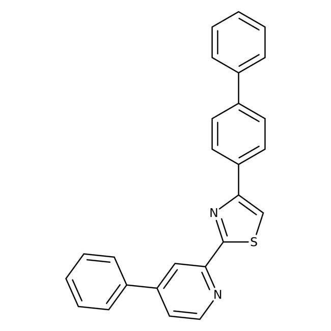 Alfa Aesar™4-(4-biphényl)-2-(4-phényle-2-pyridyl)thiazole, 97% 5g Alfa Aesar™4-(4-biphényl)-2-(4-phényle-2-pyridyl)thiazole, 97%