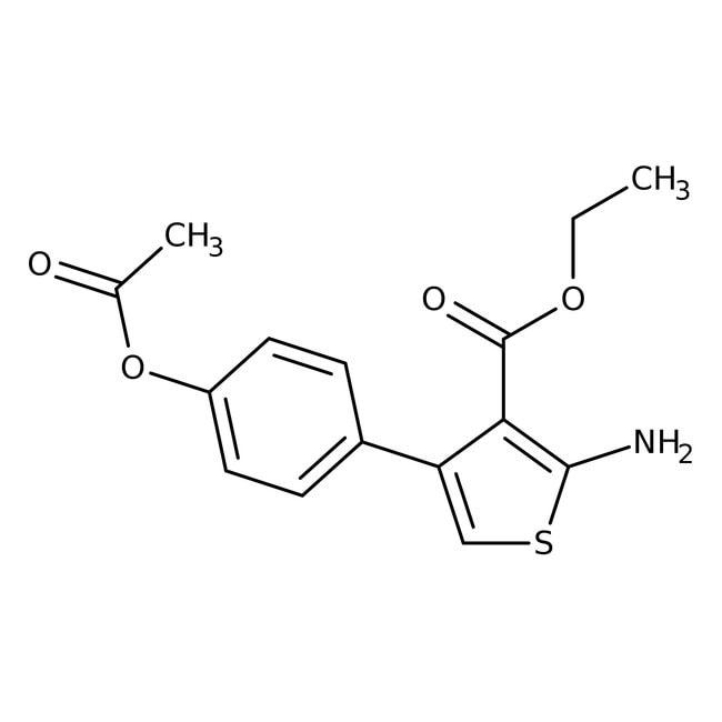 Alfa Aesar™2-amino-4-(4-acétoxyphényl)thiophène-3-carboxylate d'éthyle, 97% 10g Alfa Aesar™2-amino-4-(4-acétoxyphényl)thiophène-3-carboxylate d'éthyle, 97%