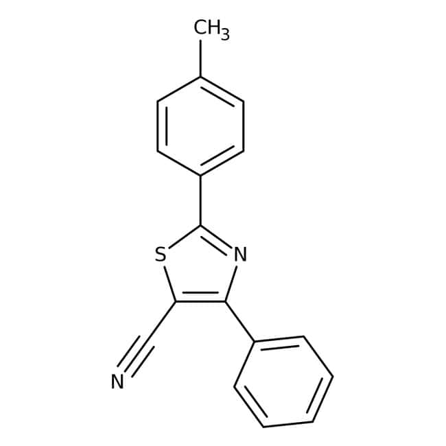 Alfa Aesar™5-Cyan-2-(4-methylphenyl)-4-phenylthiazol, 97% 5g Alfa Aesar™5-Cyan-2-(4-methylphenyl)-4-phenylthiazol, 97%
