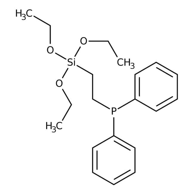 2-(Diphenylphosphino)ethyltriethoxysilane, 92%, ACROS Organics™ 1g; Glass bottle 2-(Diphenylphosphino)ethyltriethoxysilane, 92%, ACROS Organics™