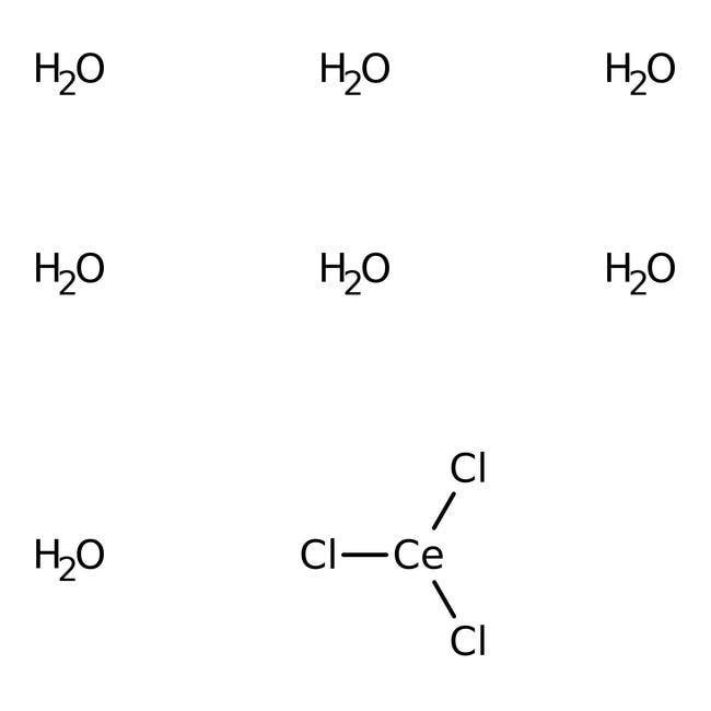 Cerium(III) chloride heptahydrate, 99%, ACROS Organics™ 100g Cerium(III) chloride heptahydrate, 99%, ACROS Organics™