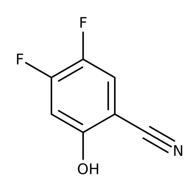 Alfa Aesar™4,5-Difluor-2-Hydroxybenzonitril, 99% 1g Alfa Aesar™4,5-Difluor-2-Hydroxybenzonitril, 99%