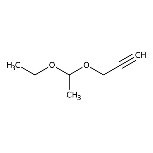 Acetaldehyde ethyl propargyl acetal, 98%, ACROS Organics™ 1g; Glass bottle Acetaldehyde ethyl propargyl acetal, 98%, ACROS Organics™