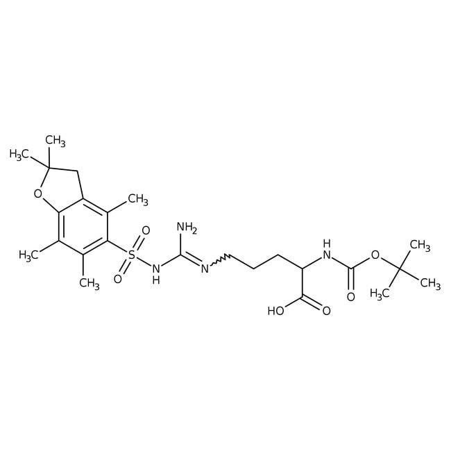 Nalpha-Boc-Nomega-(2,2,4,6,7-pentamethyl-2,3-dihydrobenzo[b]furan-5-ylsulfonyl)-D-arginine, 95%, Alfa Aesar™ 250mg Nalpha-Boc-Nomega-(2,2,4,6,7-pentamethyl-2,3-dihydrobenzo[b]furan-5-ylsulfonyl)-D-arginine, 95%, Alfa Aesar™