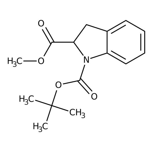 1-(tert-Butyl)2-methyl1,2-indolinedicarboxylat, 97%, Maybridge Braunglasflasche, 1g 1-(tert-Butyl)2-methyl1,2-indolinedicarboxylat, 97%, Maybridge