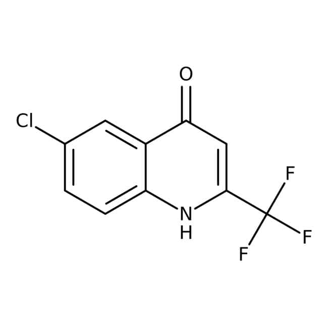 Alfa Aesar™ 6-Chloro-4-hydroxy-2-(trifluoromethyl)quinoline, 97+%: Chemicals Products