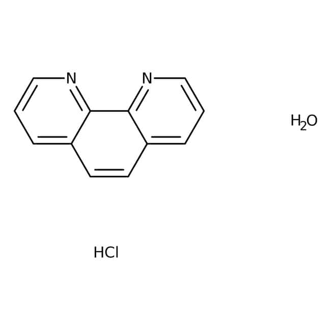1,10-Phenanthroline Monohydrochloride Monohydrate, 97%, ACROS Organics™ 10g; Glass bottle 1,10-Phenanthroline Monohydrochloride Monohydrate, 97%, ACROS Organics™