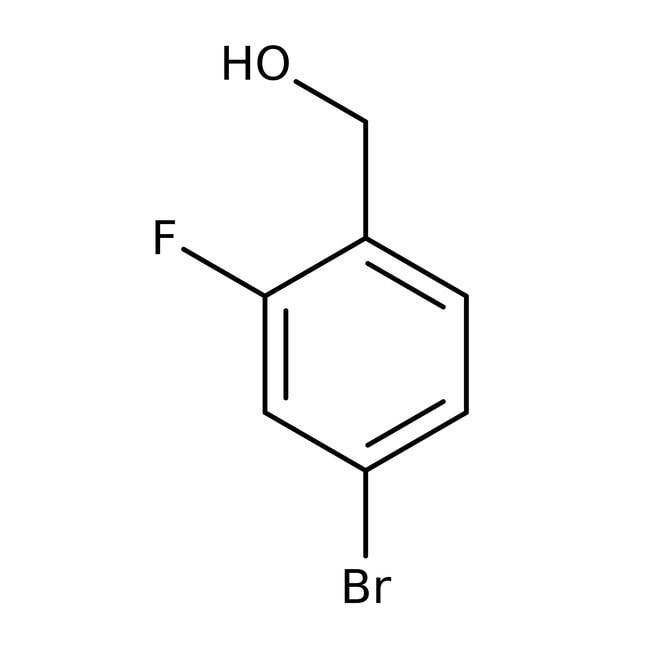 Alfa Aesar™Alcool 4-bromo-2-fluorobenzyle, 97% 5g Alfa Aesar™Alcool 4-bromo-2-fluorobenzyle, 97%
