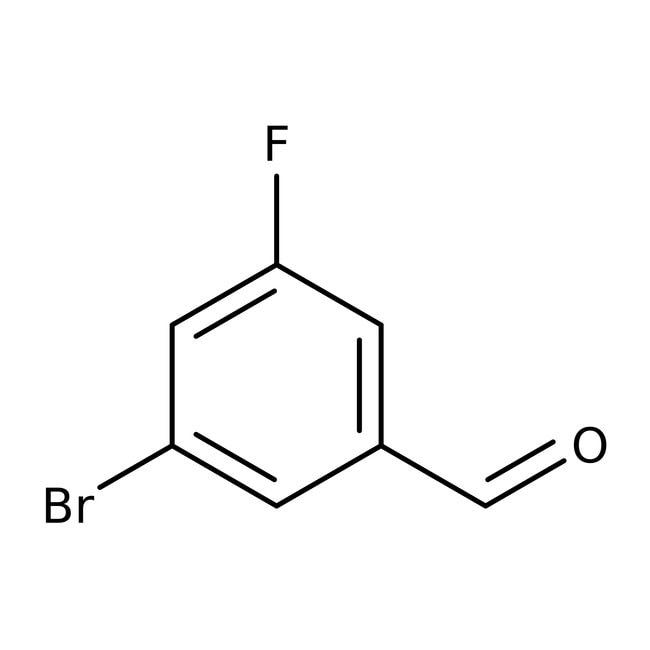 Alfa Aesar™3-Bromo-5-fluorobenzaldehyde, 95% 100g Alfa Aesar™3-Bromo-5-fluorobenzaldehyde, 95%