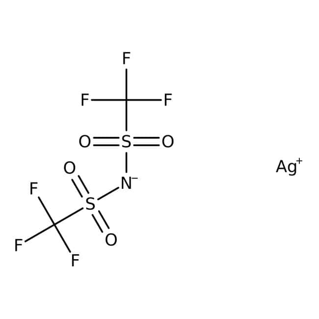 Alfa Aesar™Bis(trifluorométhylsulfonyl)imide d'argent 250mg Alfa Aesar™Bis(trifluorométhylsulfonyl)imide d'argent